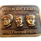 Vintage 1979 Jockeys Hollywood Park Walk of Fame Belt Buckle 6022013cc