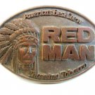 1988 America's Best Chewing Tobacco Red Man Belt Buckle by Pinkerton