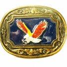Vintage Enameled American Eagle Belt Buckle Unbranded 71215