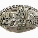 1985 Entex Safety Award Belt Buckle By Indiana Metal Craft 73015