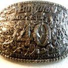 1994 Silver Tone Buffalo P.R.C.A. Rodeo Belt Buckle