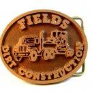 Vintage Fields Dirt Construction Belt Buckle