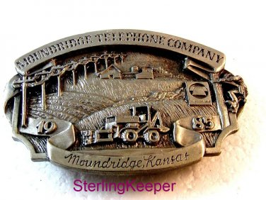 Vintage 1986 Siskiyou Moundridge Kansas Telephone Company Belt Buckle