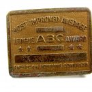 1950's - 1960's American Bowling Congress Most Imp;roved Belt Buckle 092614