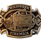 Vintage Volunteer Firemans Belt Buckle