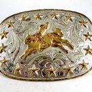 Western Cowboy Rodeo Bull Riding Belt Buckle by Silver Strike 12112013kd