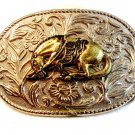 Vintage Bronching Horse Western Cowboy Rodeo Belt Buckle