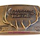 Vintage National Rifle Association NRA Preserving Our Shooting Heritage Deer Bel