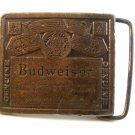 Vintage Budweiser Belt Buckle Reproduced by Permission