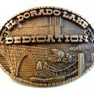 Vintage 1984 El Dorado Kansas Lake Dedication Belt Buckle