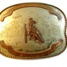 Comstock German Silver Western Rodeo Belt Buckle