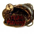 Vintage 1982 Ocean Fishing Enameled Belt Buckle