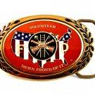 Vintage Volunteer Fireman Damn Proud of It Belt Buckle