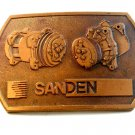 Vintage Sanden maker of Automotive Compressors Belt Buckle