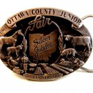 Vintage 1989 Ottawa County Junior Fair Belt Buckle by Siskiyou