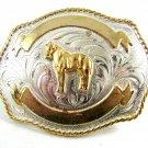 Silver Strike Horse Belt Buckle 11142013