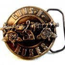 1992 Brockum Collection Guns & Roses Belt Buckle Made in U.S.A.