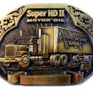 Vintage Super HD II Motor Oil Belt Buckle by RKO San Antonio, Texas