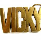Ladies VICKY Solid Brass Belt Buckle 82814