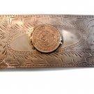 Vintage Large Handmade Mexican Peso 1958 Belt Buckle