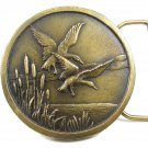 1976 True Vintage Ducks In Flight Brown Belt Buckle - Indiana Metal Craft 101514