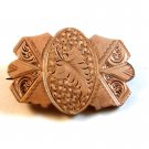 Victorian Gold Tone Leaf Brooch