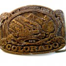 Vintage 1876 - 1976 Colorado Centennial Belt Buckle by C.D.C.
