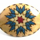 Vintage Southwest Stars Within Stars Handmade Belt Buckle By NOTA 121614