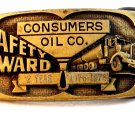 Vintage Consumers Oil Co. Safety Award 1976 - 1978 Safety Award Belt Buckle