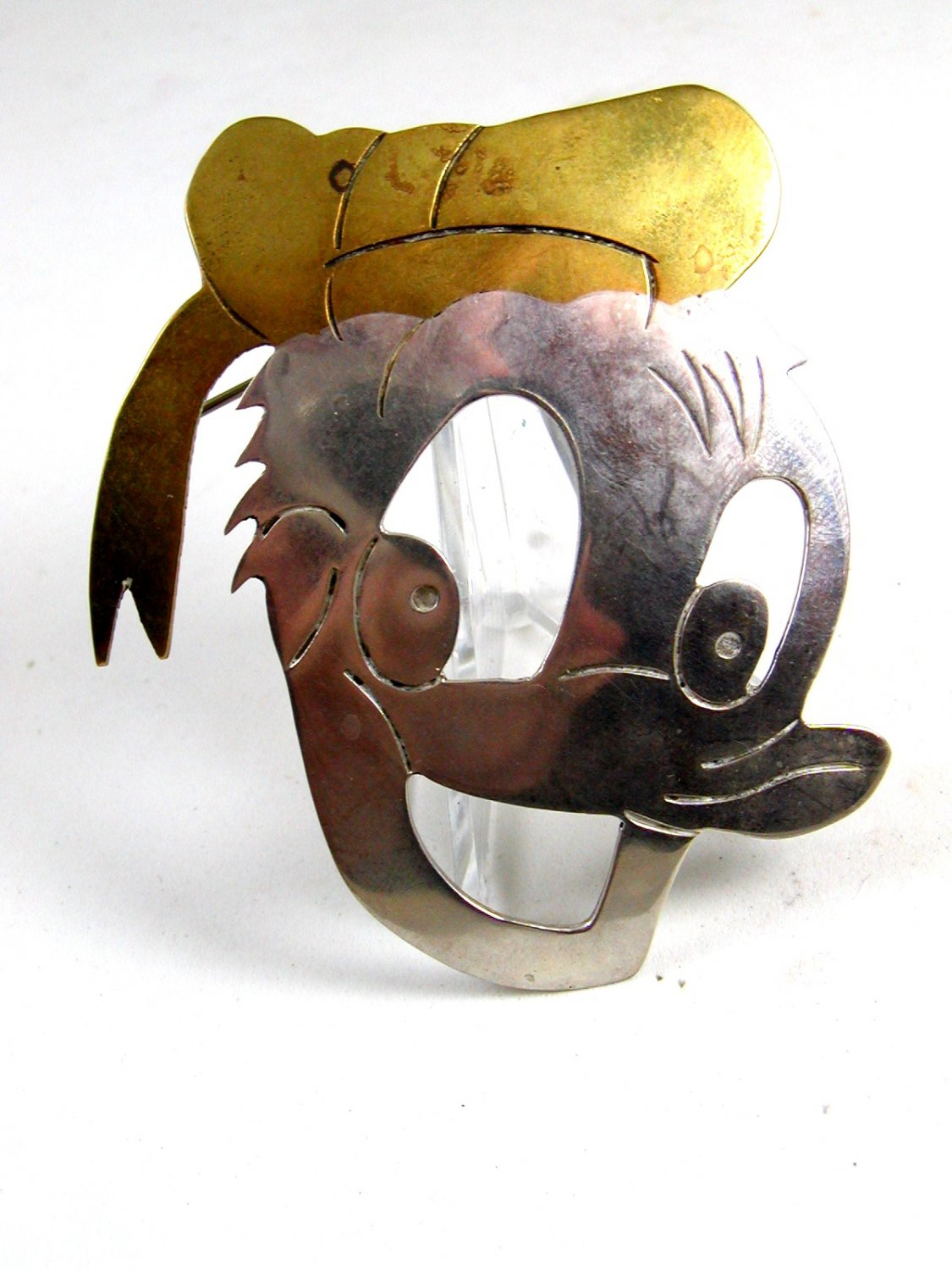 Mexican Taxco Sterling Silver Donald Duck Brooch