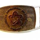 American Revolution Bicentennial Silver Tone Belt Buckle by Lee