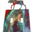 Moose Double Light Switch Cover Plate by Steel Images USA Made 02161511111D