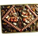 Ladies Various Unknown Stones Belt Buckle Unmarked 092214