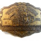 Livingston Well & Co. Foreign Gold Domestic Dealers Belt Buckle