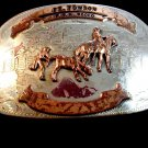 Vintage Ft. Towson Oklahoma FFA Calf Roping Rodeo Belt Buckle 789054
