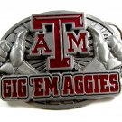 "Texas A&M Gig ""em Aggies Belt Buckle 2192014"