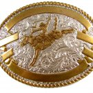 Western Cowboy Rodeo Broncho Busting Belt Buckle 5714 by Crumrine
