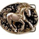 Unicorn Enameled Belt Buckle 51514 Not Signed
