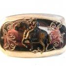 Vintage Cowboy Western Horse Bowing Belt Buckle 1114