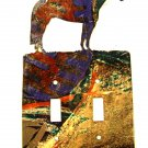 Large Horse Standing Double Switch Outlet Cover Plate by LaZart USA 6915