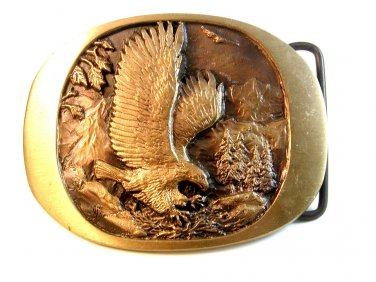 American Eagle Endangered Species Bronze Belt Buckle by High Mesa