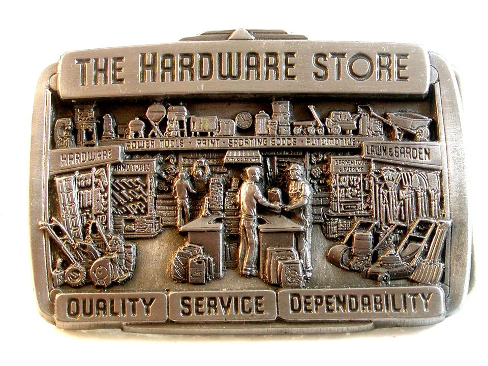 1987 Commemorative LImited Edition The Hardware Store Belt Buckle