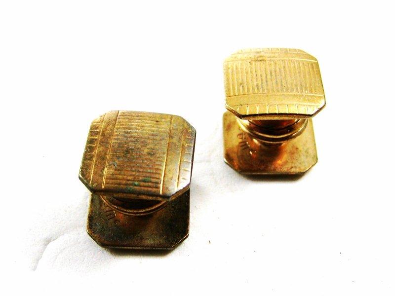 SWANK Art Deco Goldtone Snap Link Cufflinks By KUM-A-PART 101314