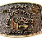 1983 Shell W.R.M.C. Becktel Major Effluent Project Solid Brass Belt Buckle by BT