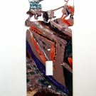 Rodeo Calf Roping Single Light Switch Cover Plate by LaZart 030315U