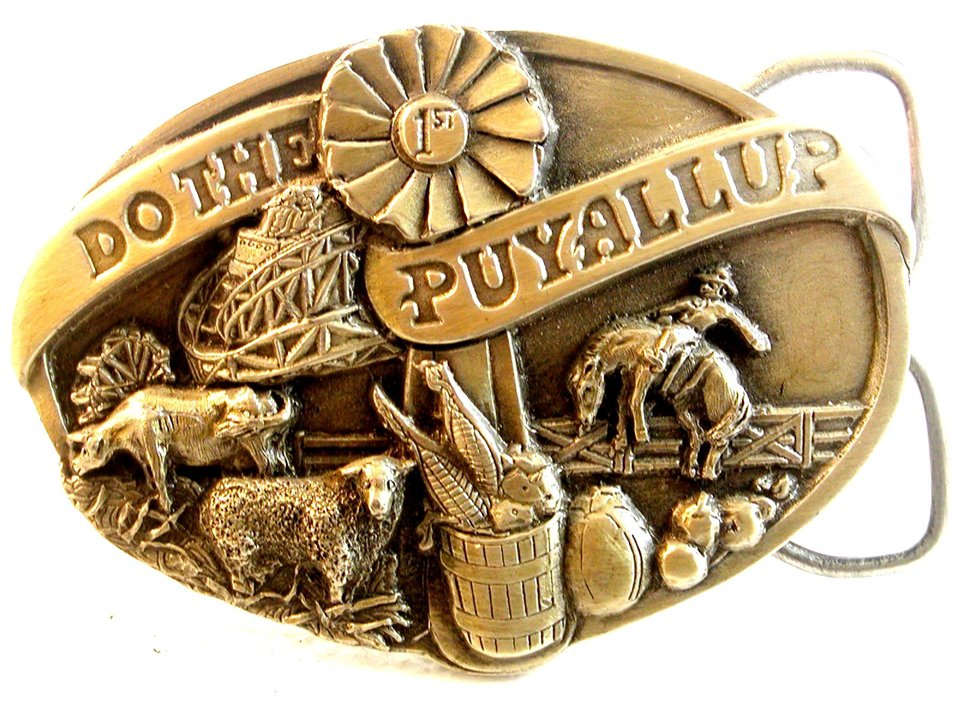 1983 Do The Puyallup Belt Buckle First In Series