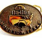 1981 CBI Na-Con Houston, Texas Brass Belt Buckle by BTS12022013