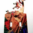 Kokopelli w/ Flute Double Light Switch Cover Plate by Steel Images USA 021915A