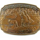 1989 Great American Rodeo Calf Roping Jewelers Bronze Belt Buckle 11042013