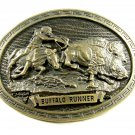 Buffalo Runner C.M. Russell Western Collection Belt Buckle by ADM 092314